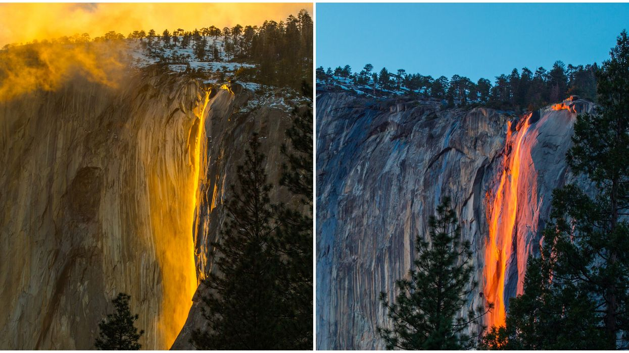 This Giant Waterfall In California Looks Like Actual Spilling Lava