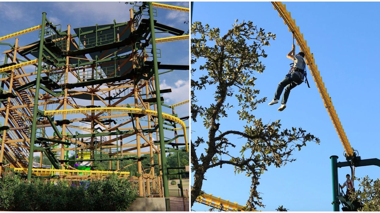 An Insane 60-Ft-Tall Zip Rails & Ropes Course Just Opened In San Antonio