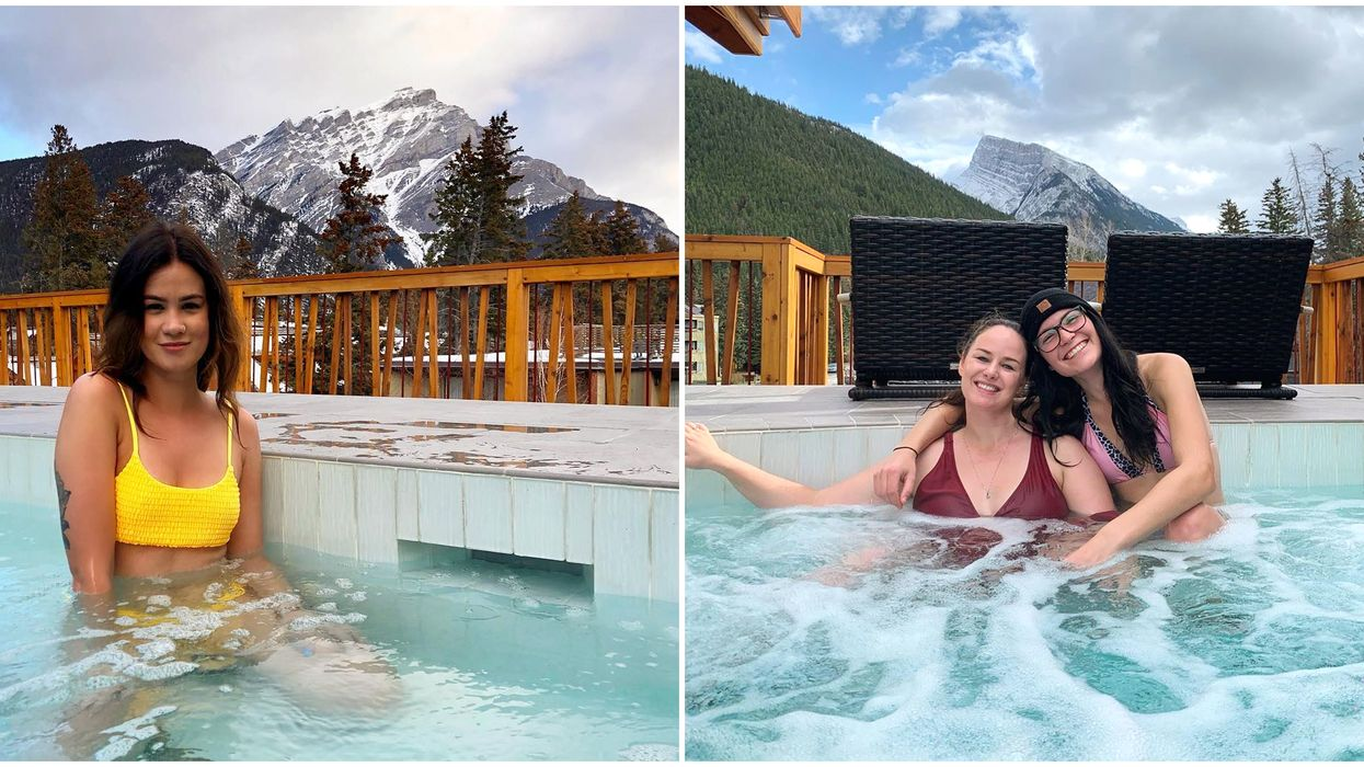 Spa In Alberta Is Hidden On A Rooftop & Has Insane Mountain Views