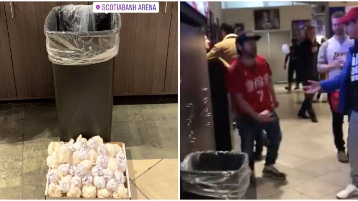 Fans Set Up A Paper-Toss Tribute To Kobe At Last Night's Raptors Game (VIDEO)