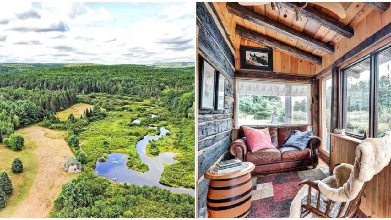 A Home For Sale Near Ottawa Offers A Charming Log Cabin In A Perfectly Private Oasis