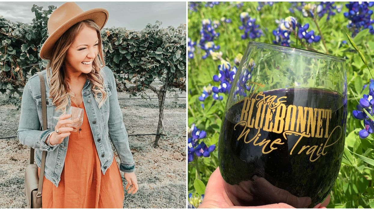 This Houston Bluebonnet Trail Lets You Drink Wine & Eat Chocolates This February