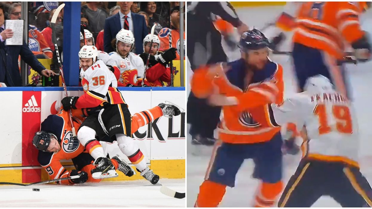 7 Calgary Flames And Edmonton Oilers Videos From Last Night That Are So Dramatic (VIDEOS)