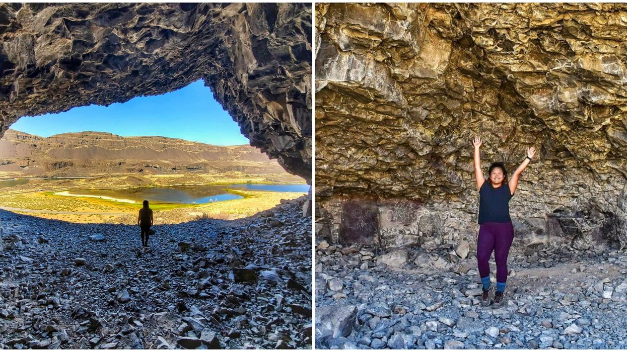 These Ancient Caves In Washington On Lake Lenore Can Be Explored On An Easy Hike