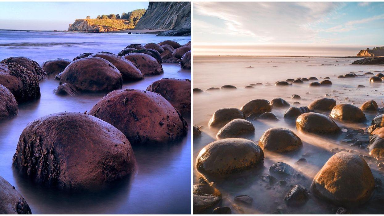 This California Bowling Ball Beach Is A Totally Hidden Wonder