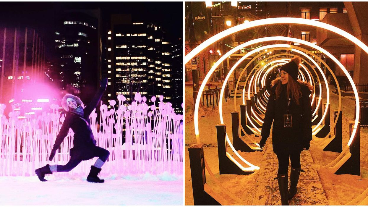 Calgary's Glow Festival Is A Massive Free Light Party That Magically Lights Up The City