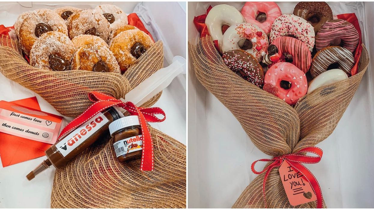 Toronto's Donut Bouquets Will Take Valentine's Day To A Hole New Level