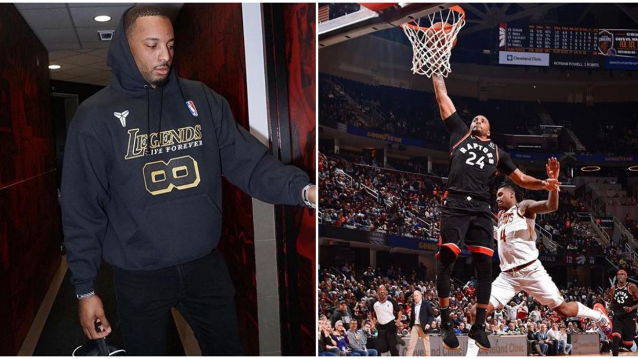 Injured Norman Powell Was Signing Autographs With A Broken Hand For Fans On Tuesday