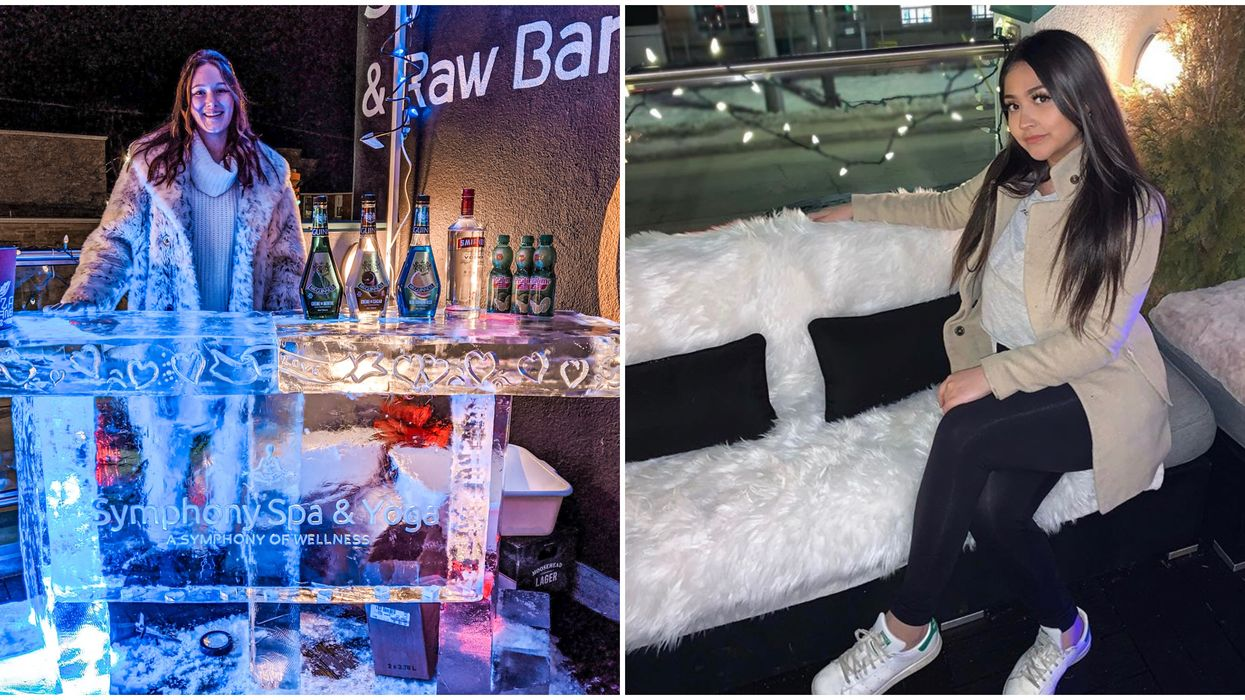 Ontario's Rooftop Ice Bar Is The Coolest Place To Sip Beverages This Month