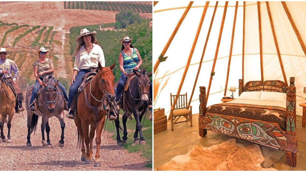 This Unique Stay In Washington Wine Country Lets You Glamp In Tipis & Ride Rescue Horses