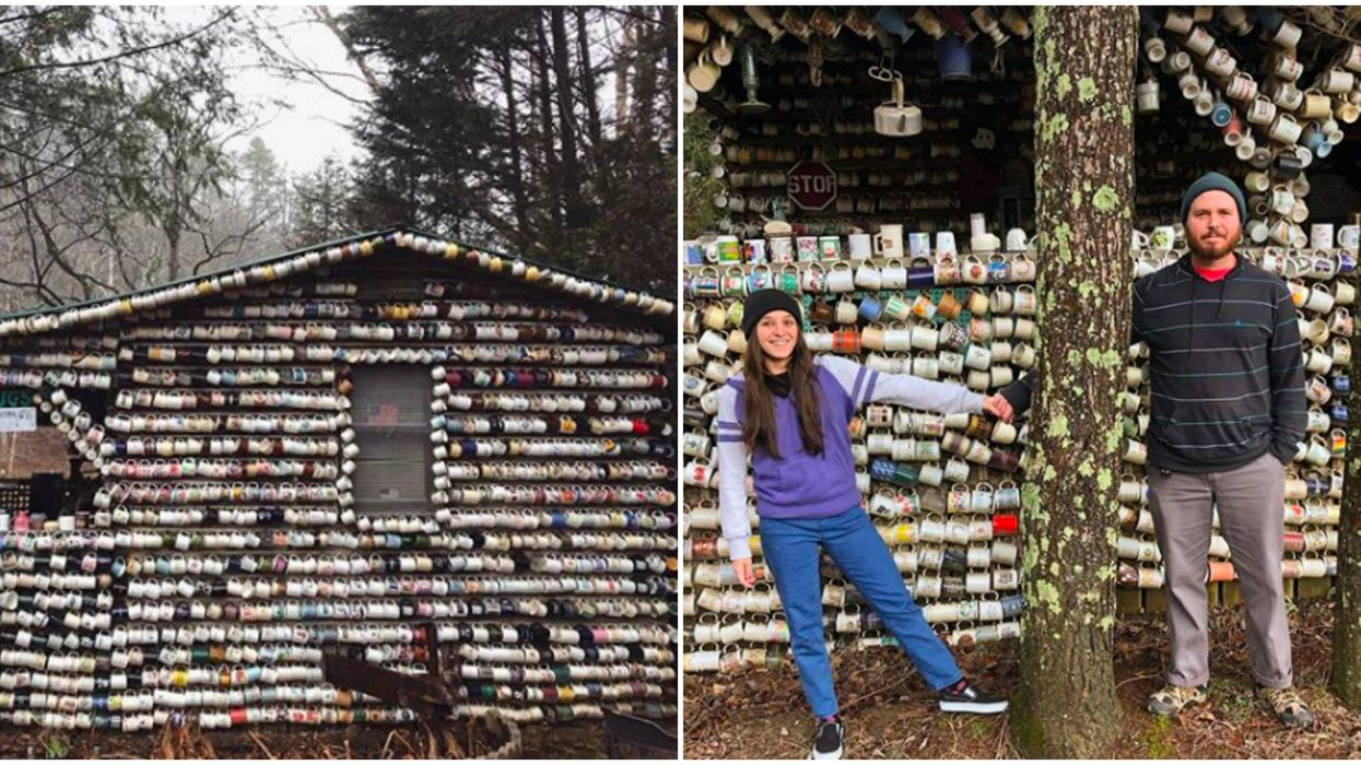 Things To Do In North Carolina Include This Mug-Covered House