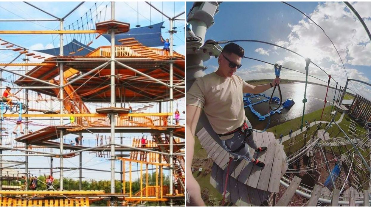 Fun Things To Do In Orlando Include Lake Nona Adventure Park Sky-High Ropes Course
