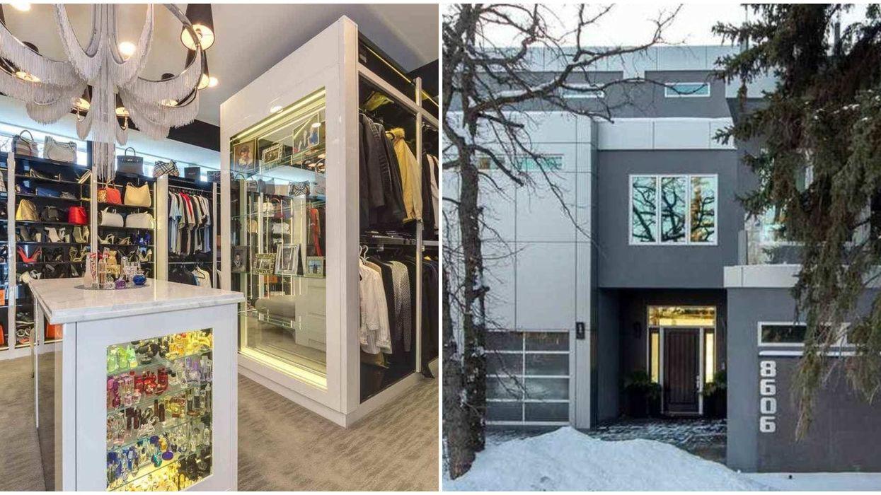 """Sex And The City"" Closet Inside A $5.5 Million Edmonton Mansion Is Insane"