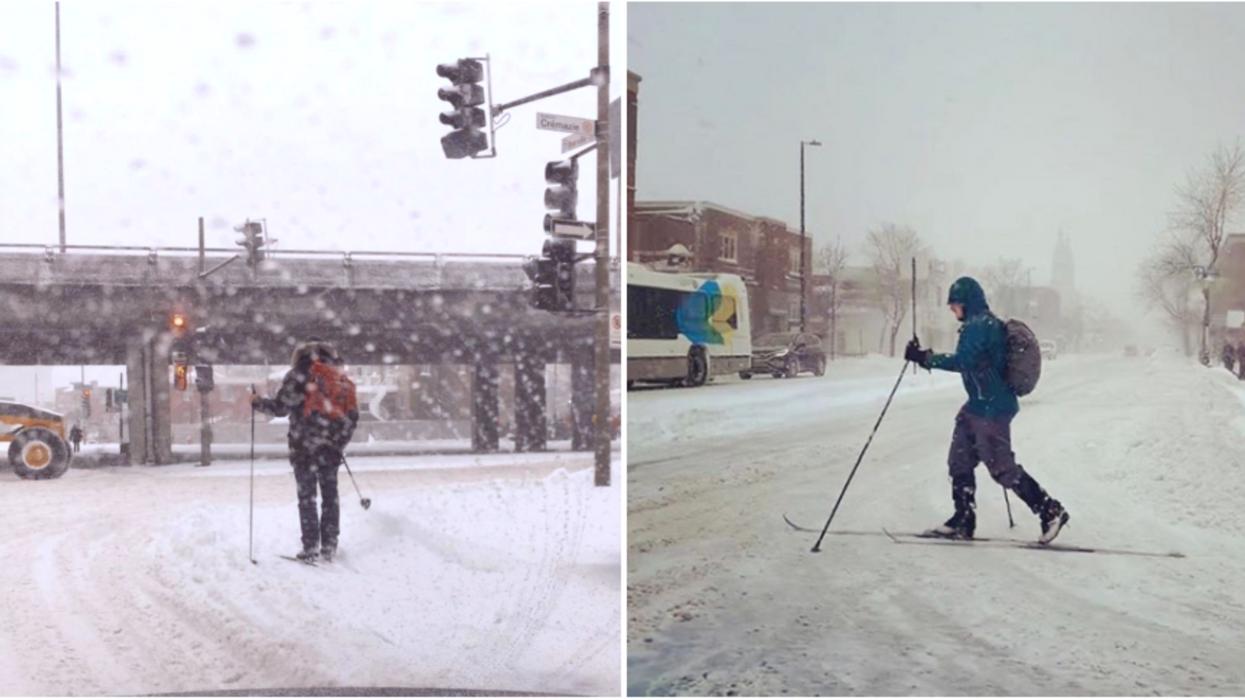 Ces Montréalais ont décidé d'ignorer la tempête de neige et les photos sont parfaites