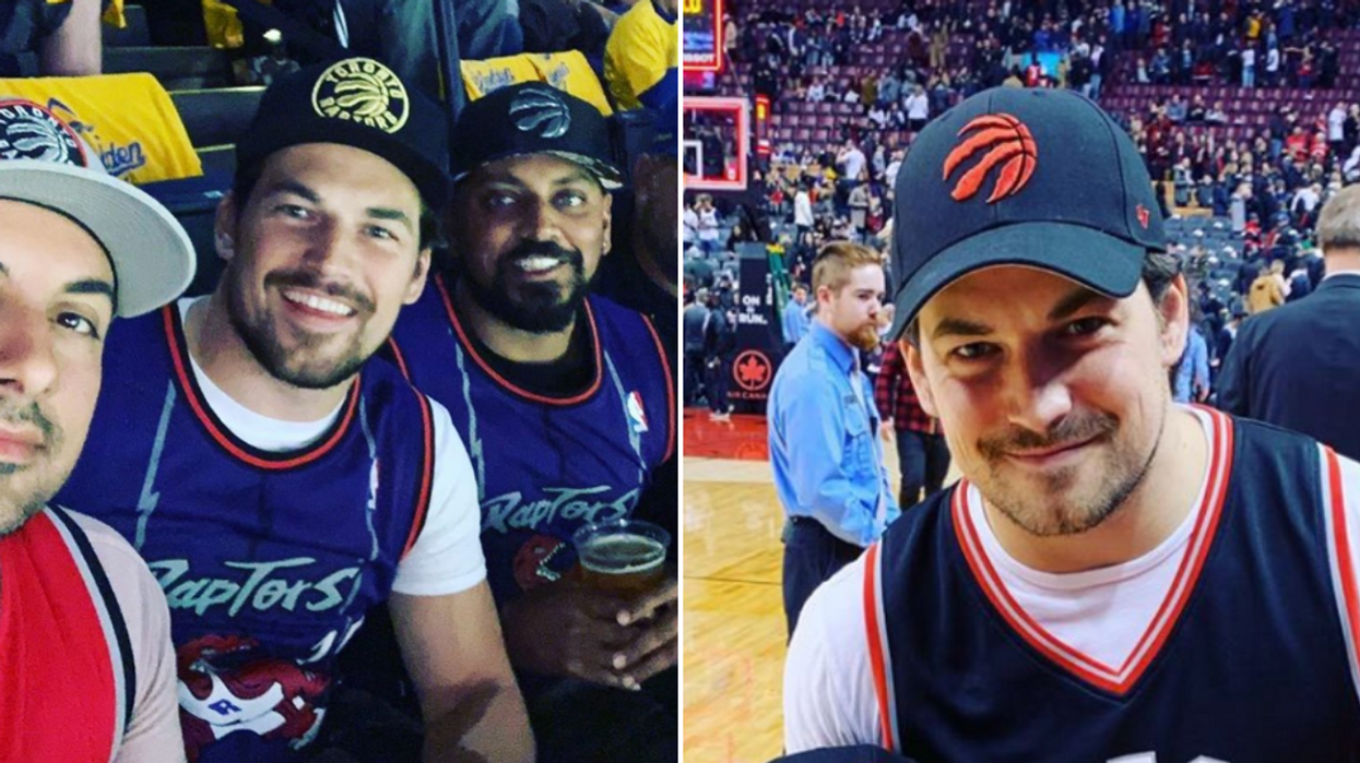 """Giacomo Gianniotti's Perfect Cure To """"Homesickness"""" Was A Toronto Raptors Win"""