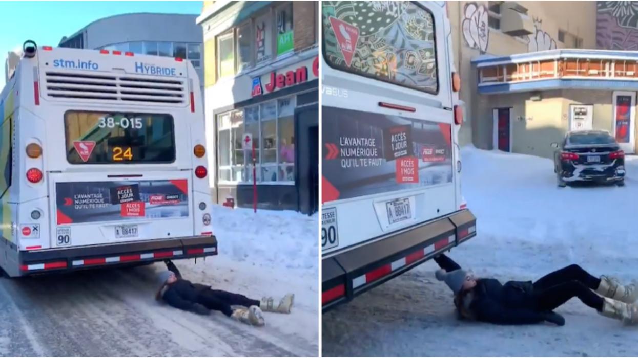 La jeune femme qui s'est accrochée à un bus en marche à Montréal répond à nos questions