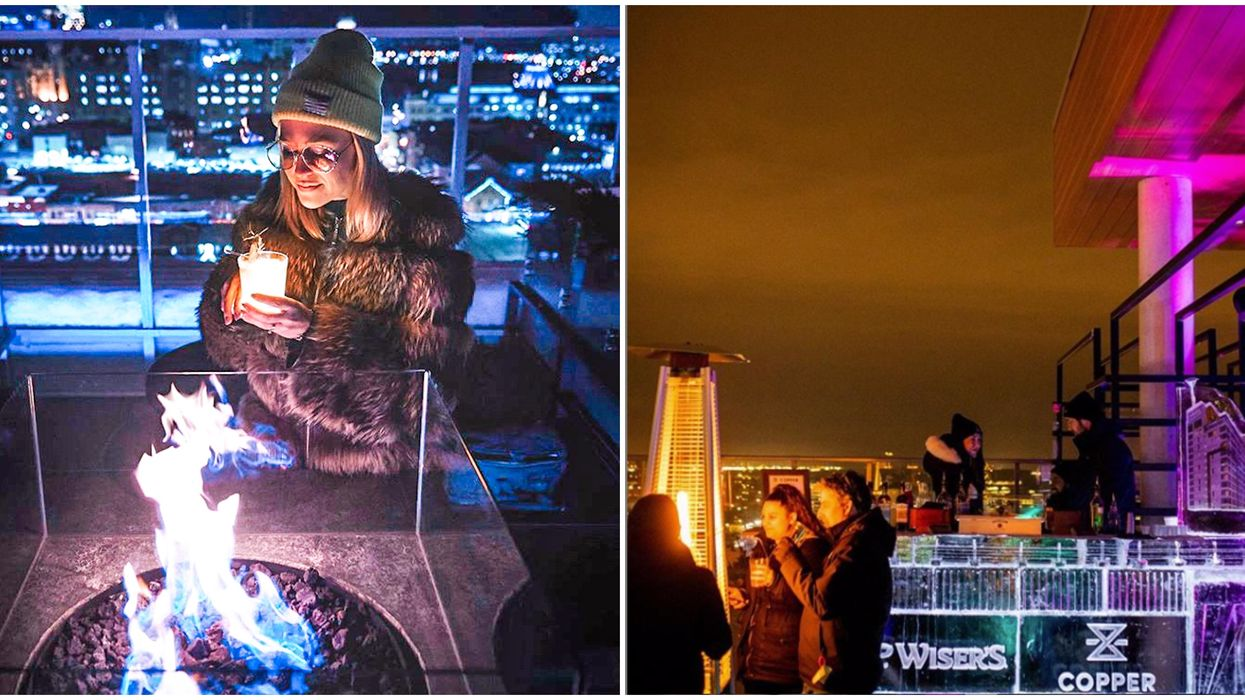 Ottawa's Rooftop Ice Bar Is Serving Up Boozy Maple Drinks & Taffy This Week
