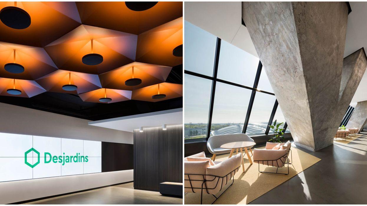 Voici de quoi ont l'air les luxueux bureaux Desjardins dans le Stade olympique (PHOTOS)