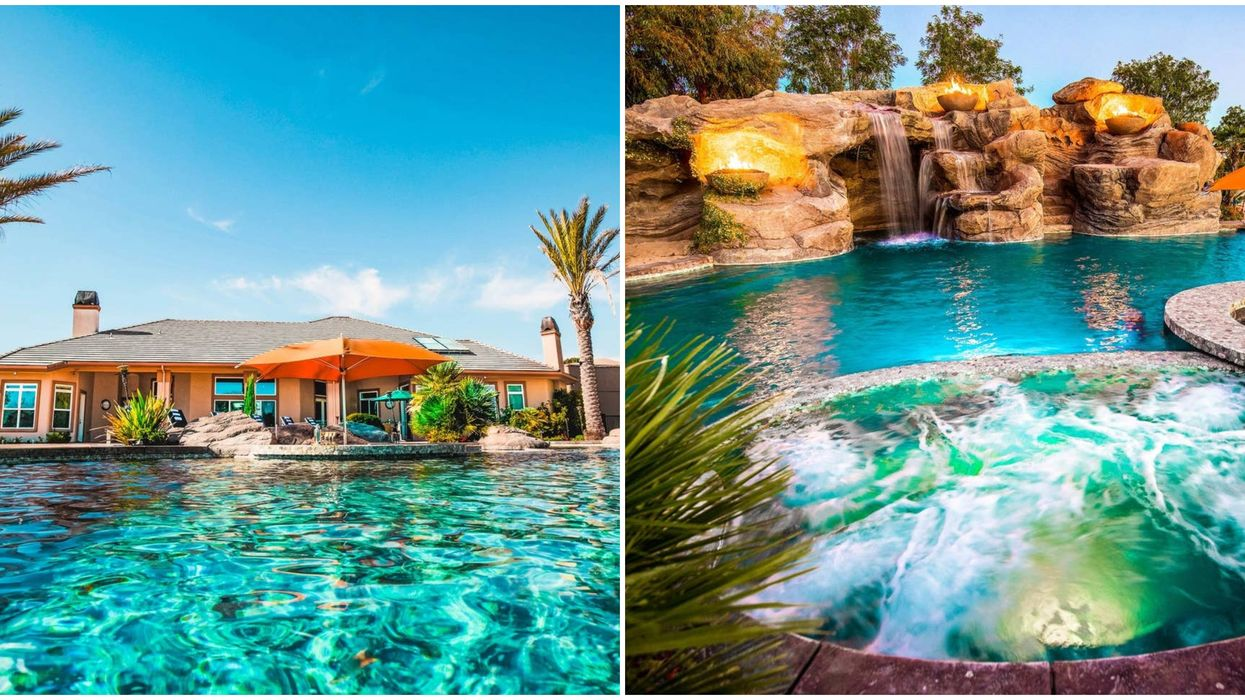 This Affordable Airbnb In California Comes With A Waterfall And Swim Up Bar