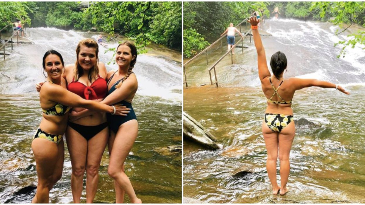 Things To Do In North Carolina Include Finding This Natural Sliding Rock