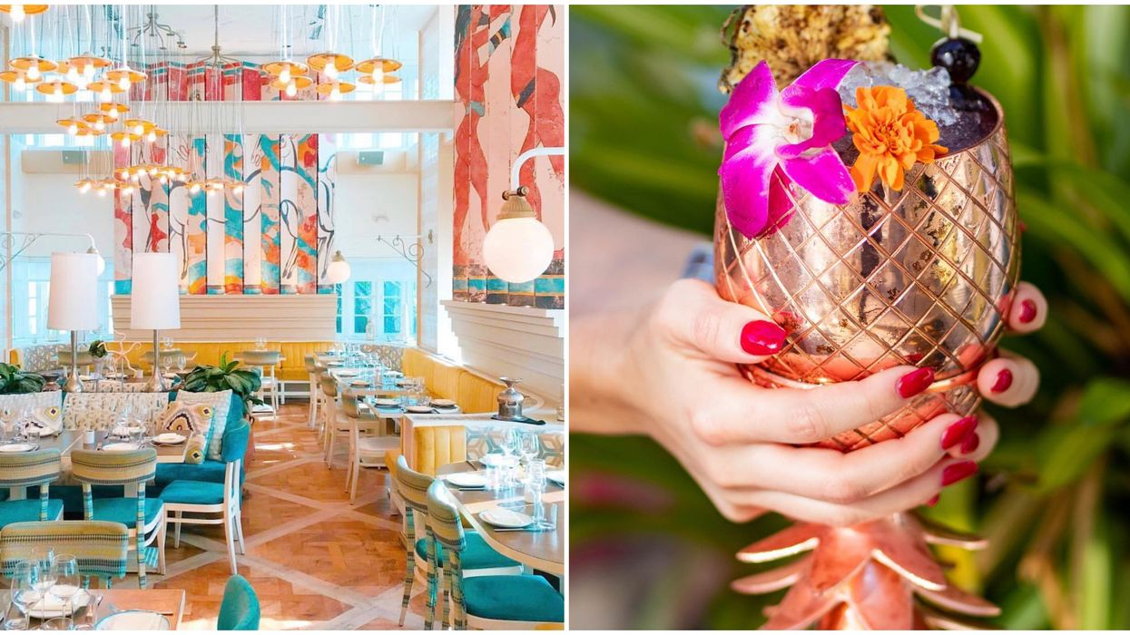 Restaurant In Miami Serves Refreshing Boozy Teas Perfect For A Girl's Day Lunch Date
