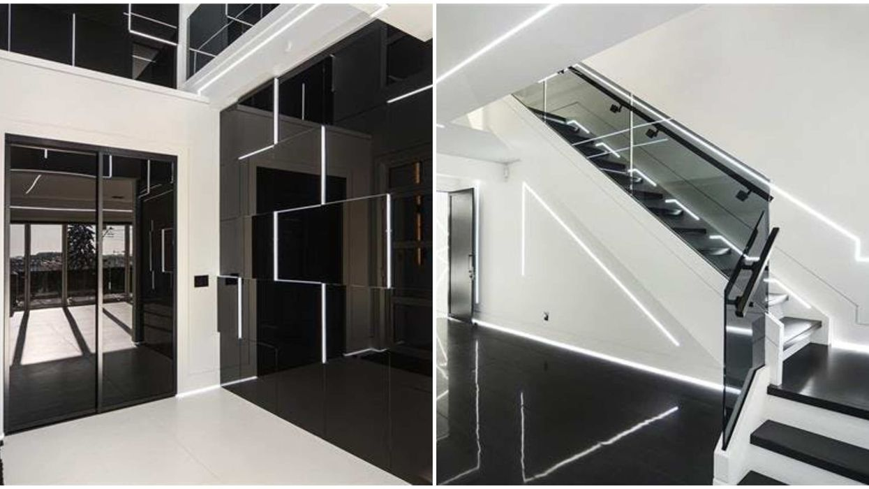 """This Futuristic Calgary Mansion Makes You Feel Like You're In """"Tron"""" (PHOTOS)"""
