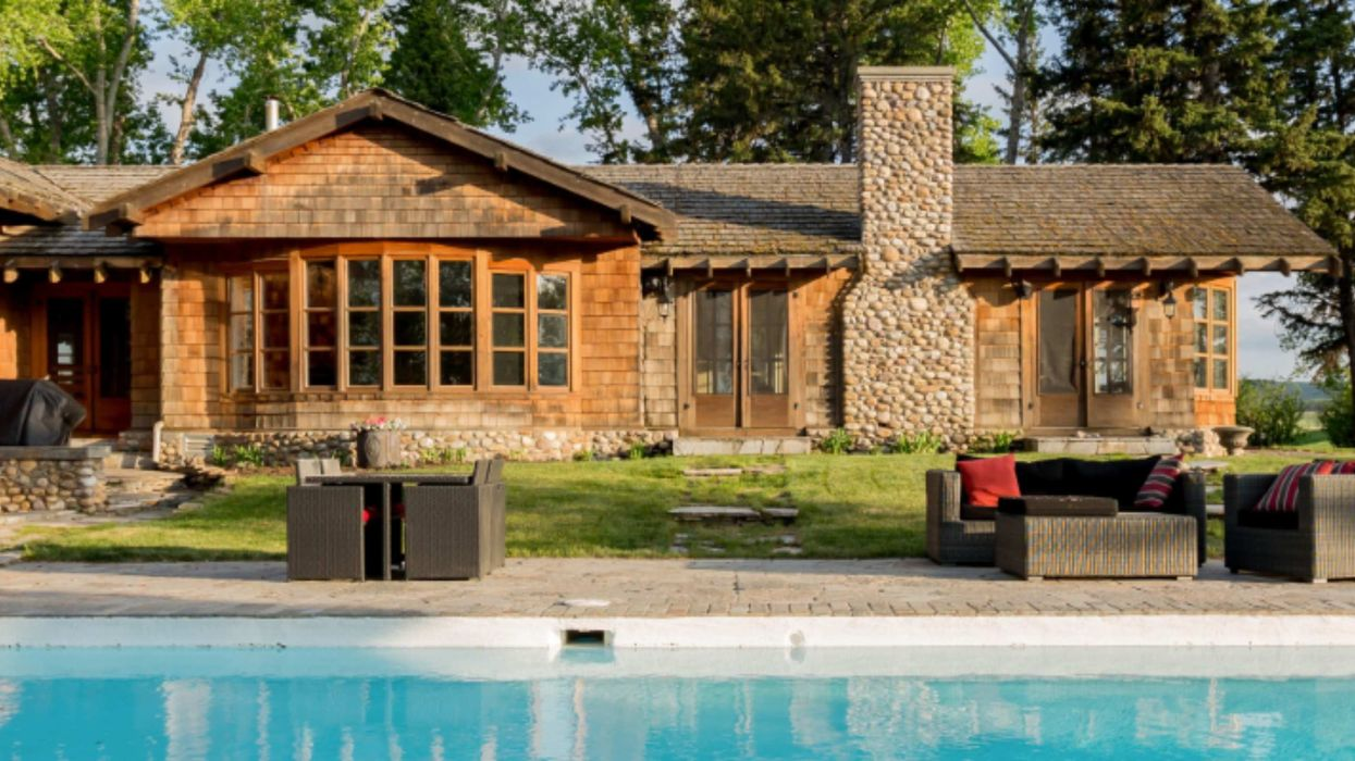 Ranch Near Calgary With A Pool Is Perfect For Renting With Your BFFs This Spring
