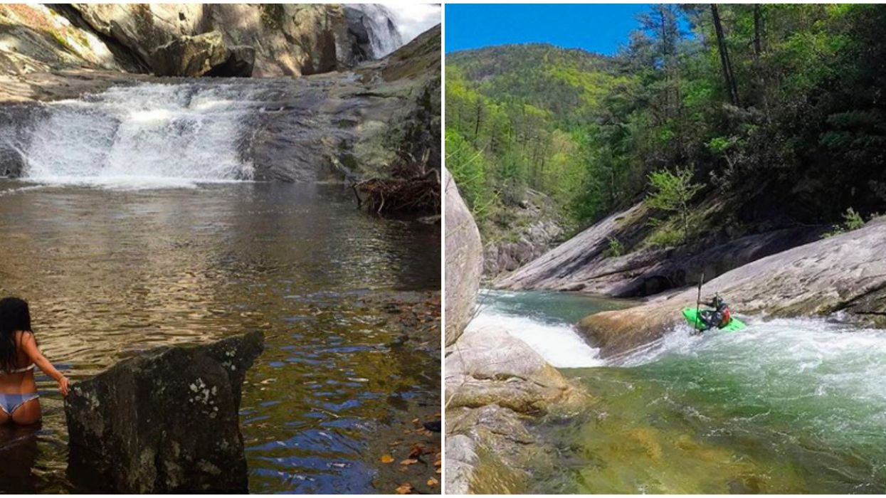 Hiking In North Carolina Is Adventurous At This Wild River With Falls