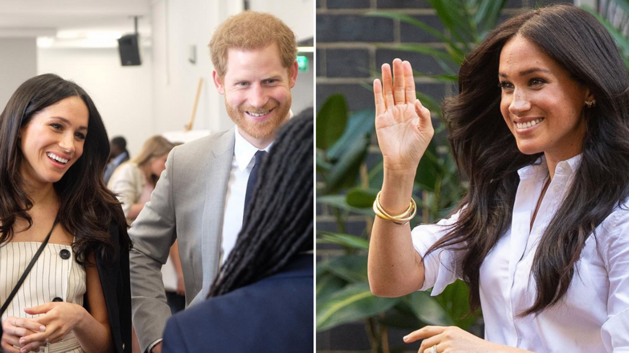 Prince Harry & Meghan Markle Are All Smiles After Flying Commercial To Canada