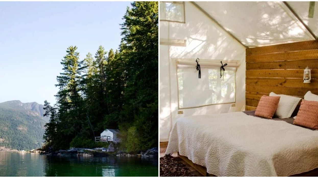 Glamping In BC: These Romantic Tents Are Right On The Emerald Green Water