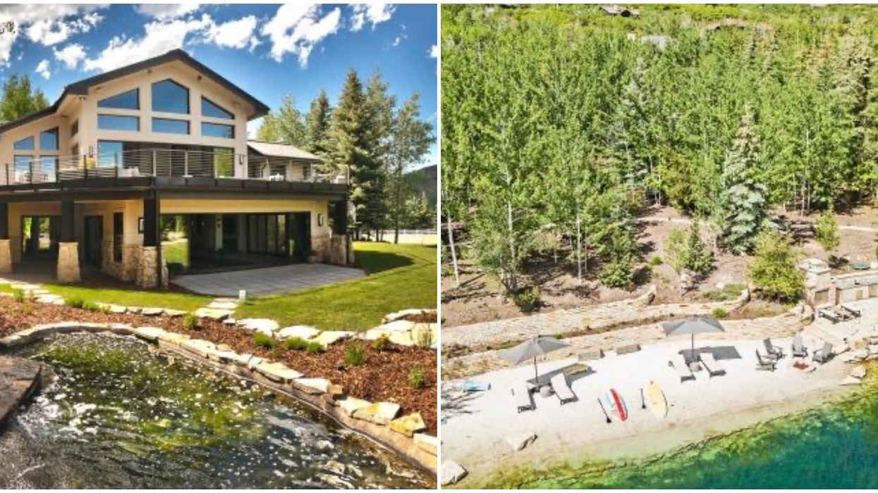 This Home For Sale In Park City Has A Lake & White Sand Beach