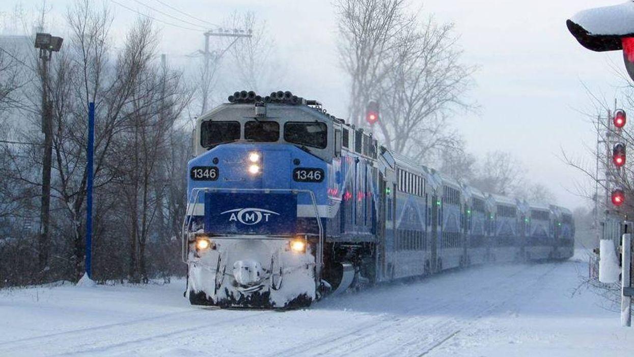 Le train exo3 Mont-Saint-Hilaire interrompu jusqu'à nouvel ordre à cause des manifestants