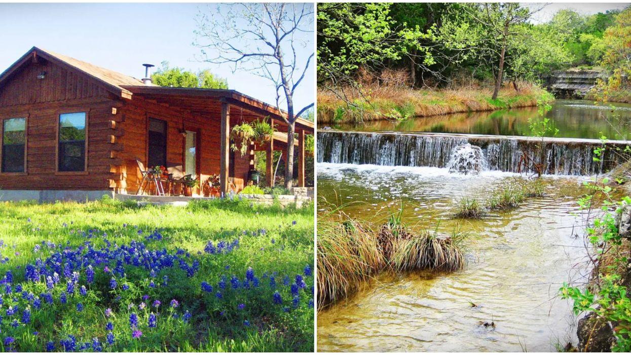 This Texas Cabin Has A Treehouse & A Creek Running Through It