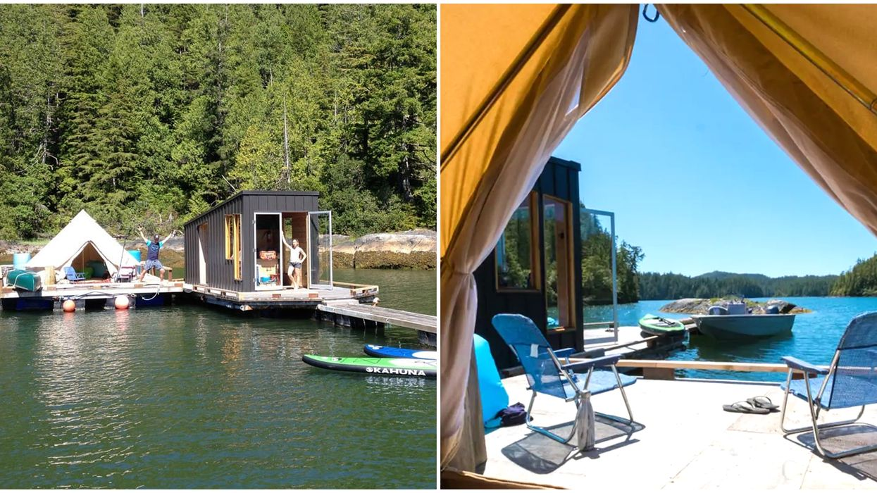 BC Floating Tent With A Sauna Is Right On The Ocean & The Perfect Glamping Getaway