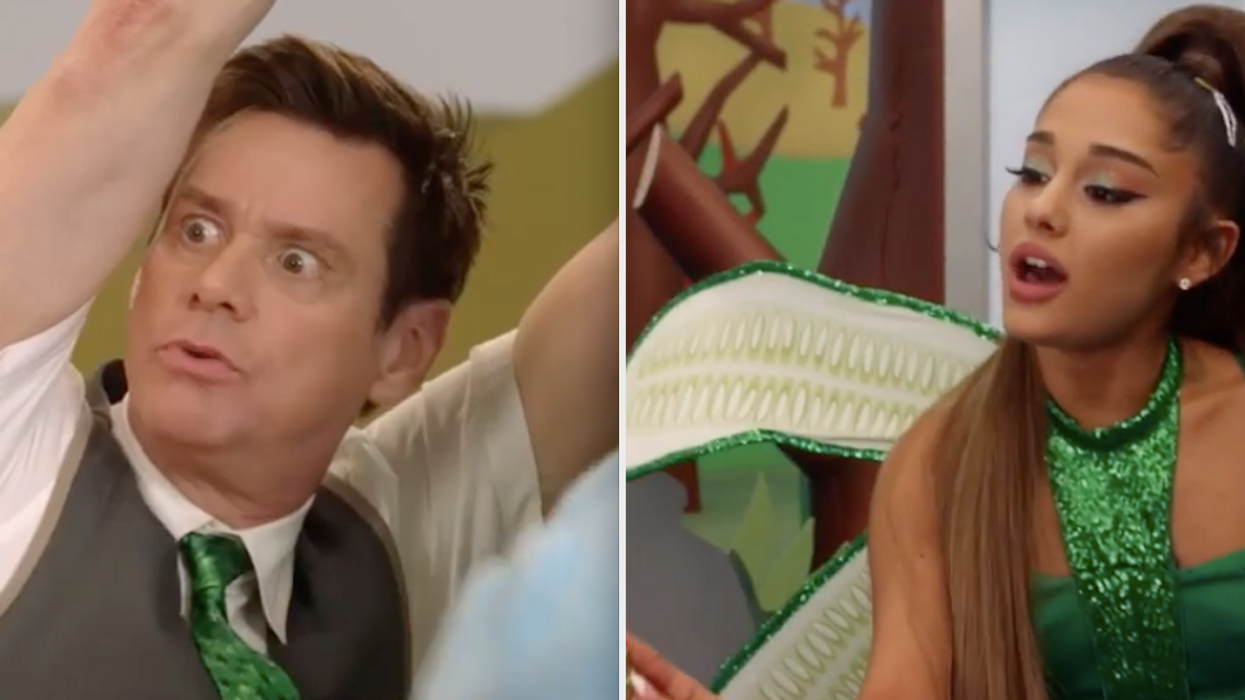 The celebrity duo you never knew you needed just performed a musical duet together.Currently in its second season, the Canadian actor's comedy-drama series featured a familiar musical guest. Jim Carrey and Ariana Grande performed two songs together on Kidding and the videos will totally make your week.