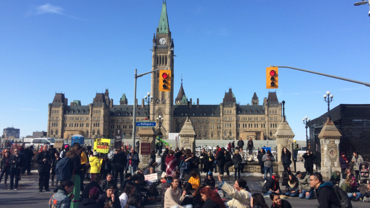 Ottawa Wet'suwet'en Rally Shuts Down City During A 4-Hour Protest (VIDEOS)