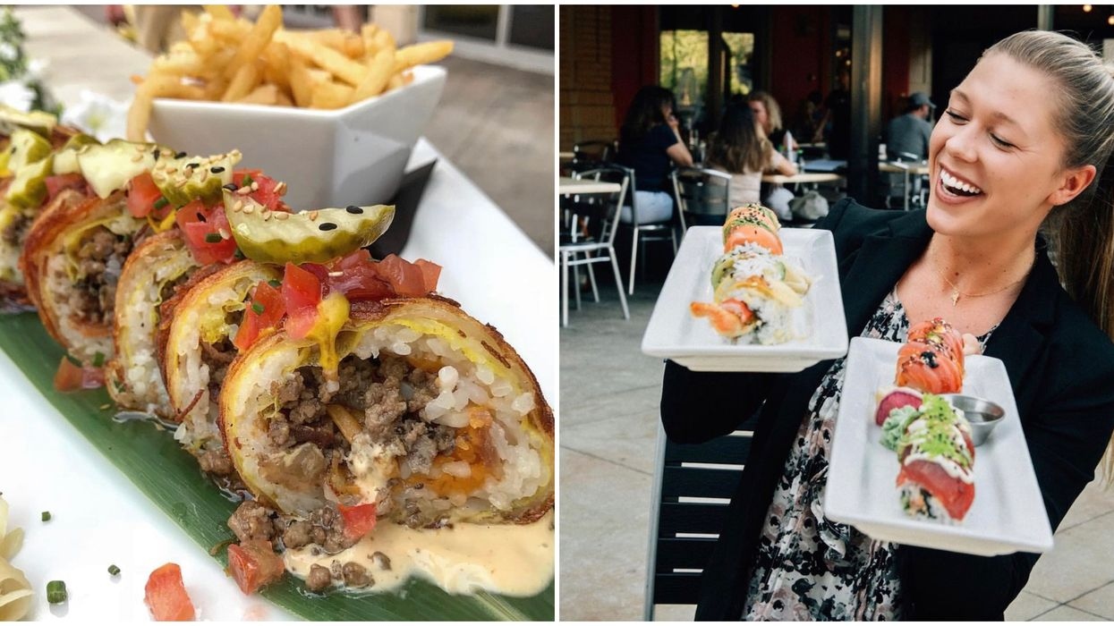 You Can Order Burger-Infused Sushi Rolls At This Charlotte Fusion Spot