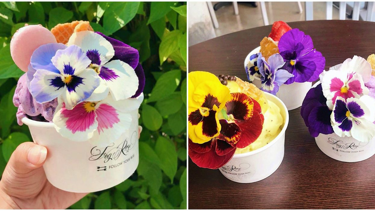 This Delicious Ice Cream In Bellevue Comes With Flowers And Other Creative Toppings