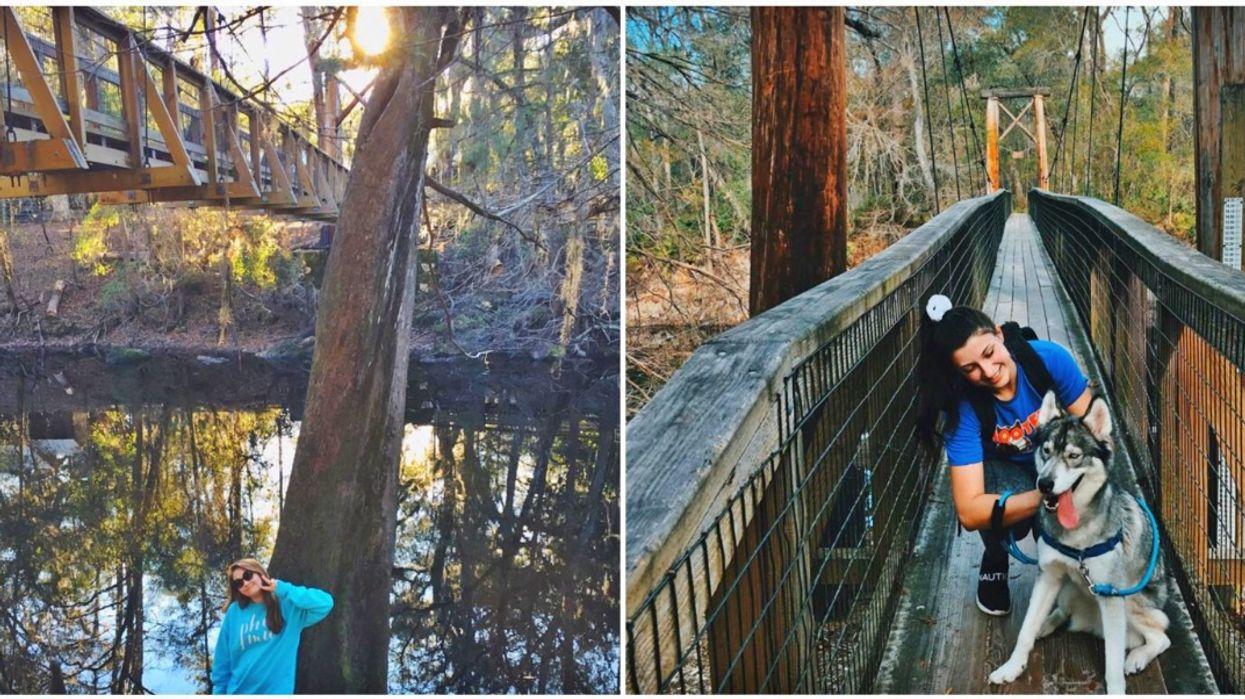 This State Park In North Florida Has A Swinging Bridge