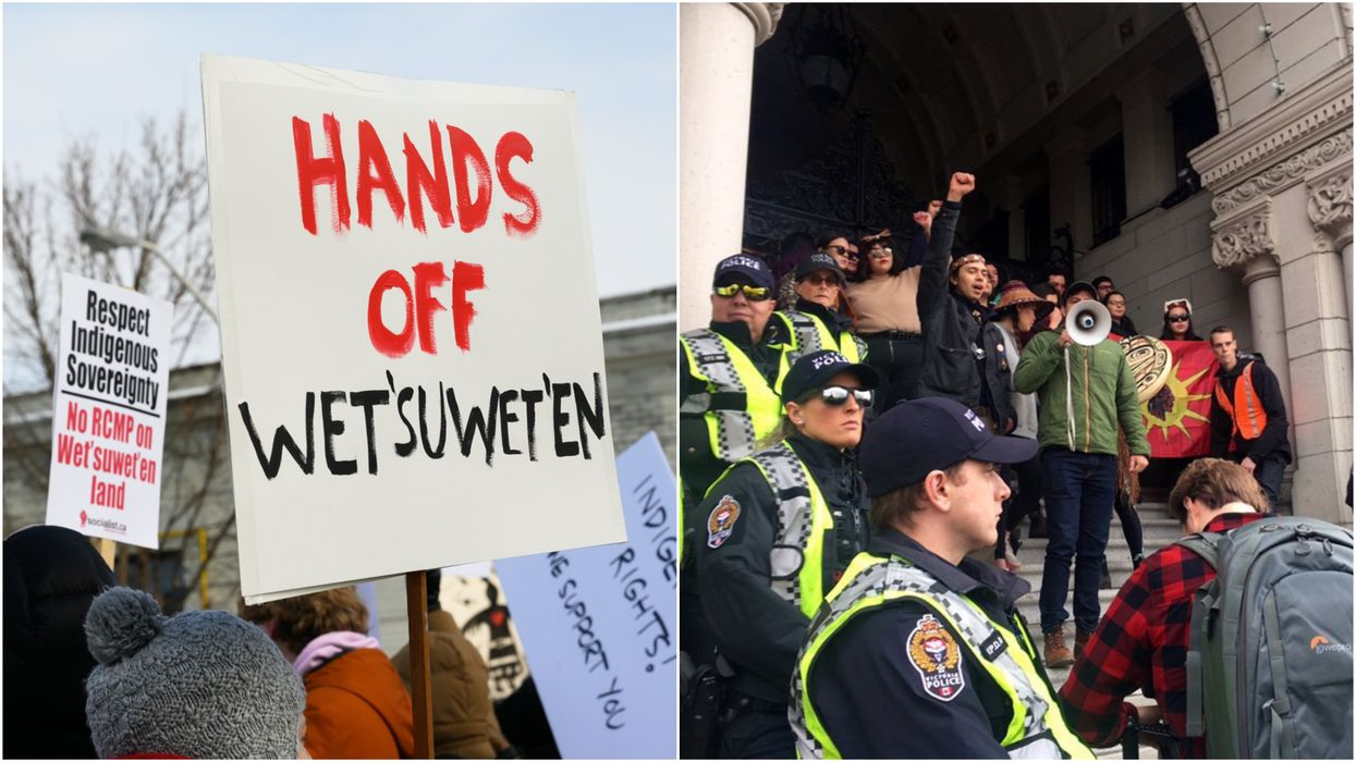 """Wet'suwet'en Solidarity Protests Continue Across Canada & Activists Say They're """"Not Leaving"""""""