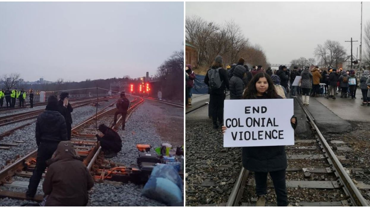 """Hamilton Rail Protests Must Leave Area """"Peacefully,"""" Say Police"""