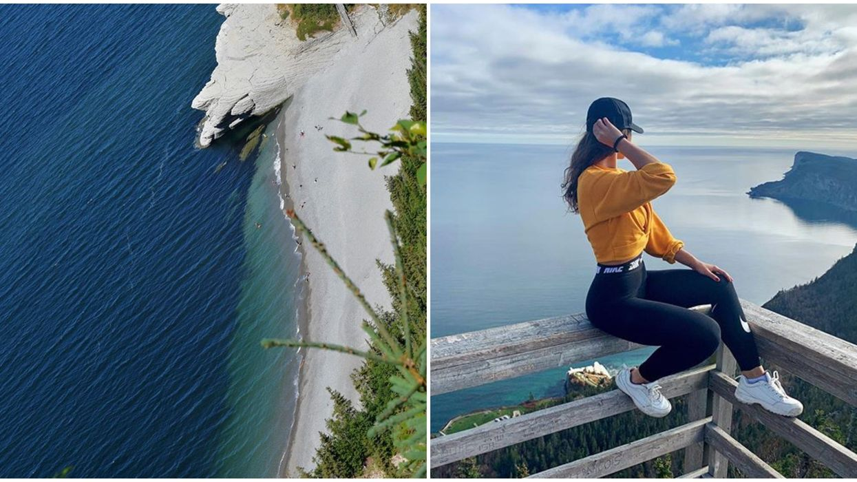 Cette plage paradisiaque au Québec offre une vue à couper le souffle