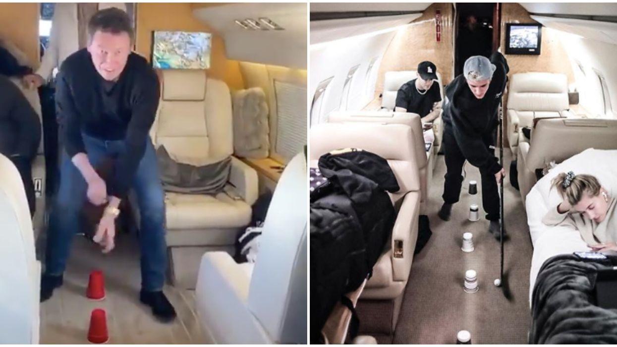 Wayne Gretzky Plane Video Has People Suspecting He's Teasing Justin Bieber
