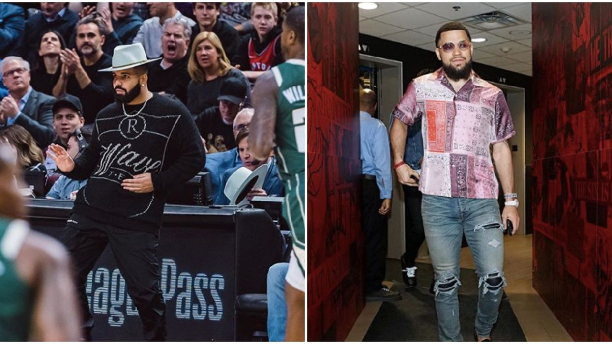 Drake Fred VanVleet Hats Went Down A Treat With Raptors Fans On Tuesday