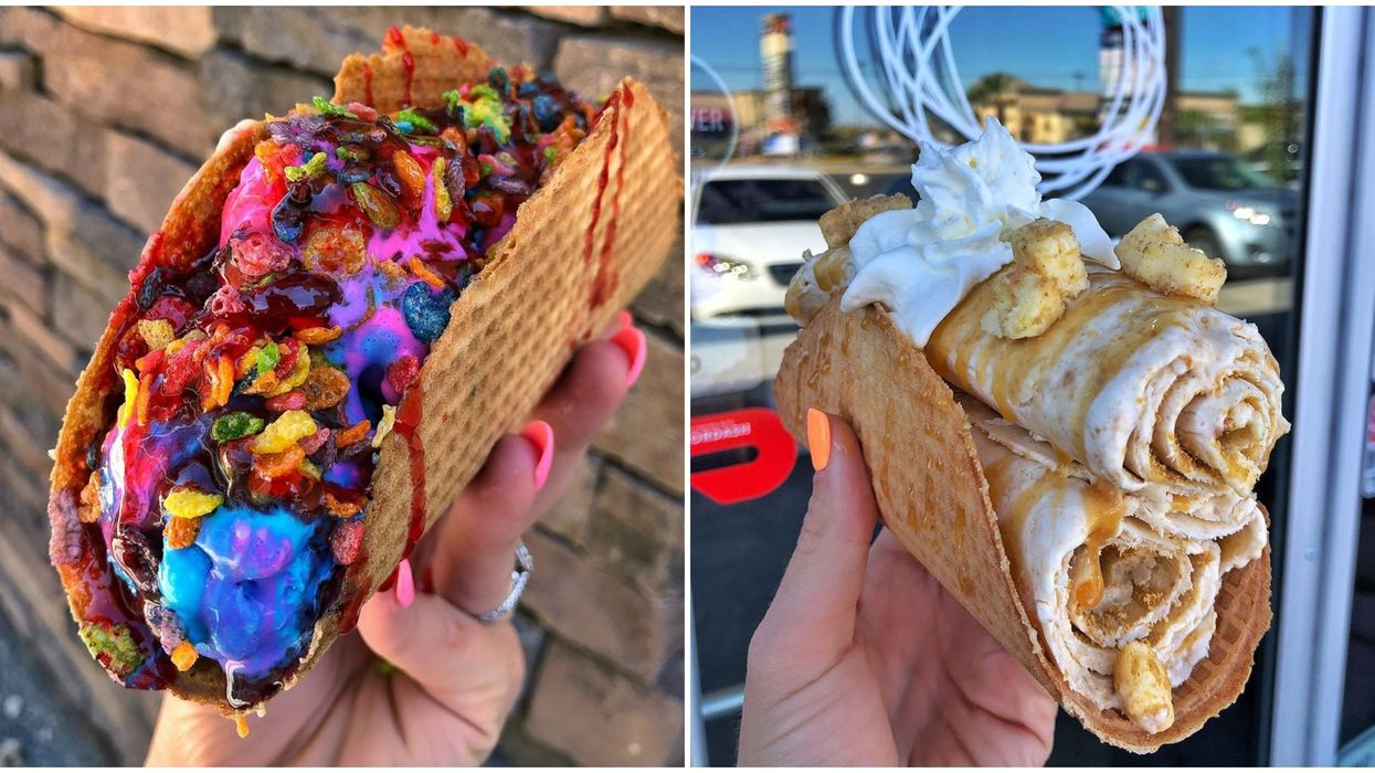 """This Ice Cream In Las Vegas Is Served In A Waffle """"Taco"""""""