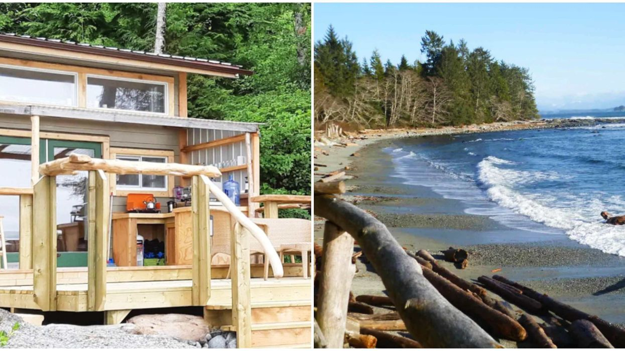 Beach Shack In BC Where You Can Relax On A Private Beach For Cheap