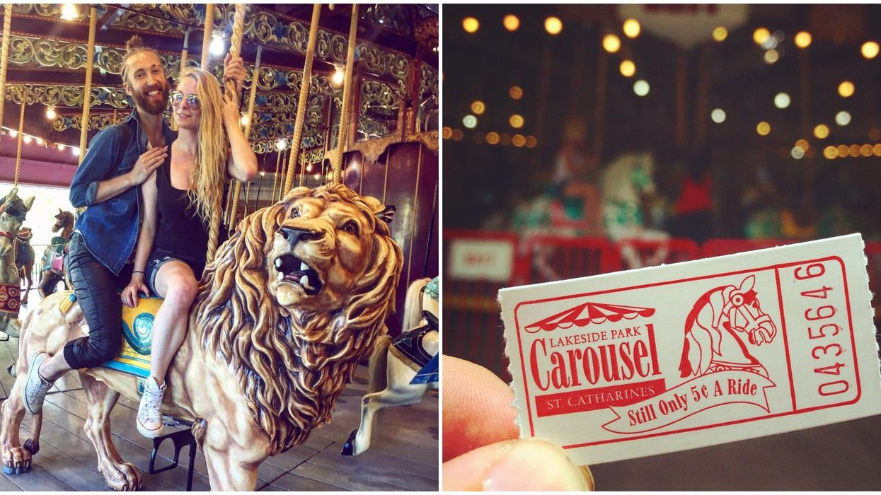 You Can Take A Century-Old Carousel Ride For Just 5 Cents In Niagara