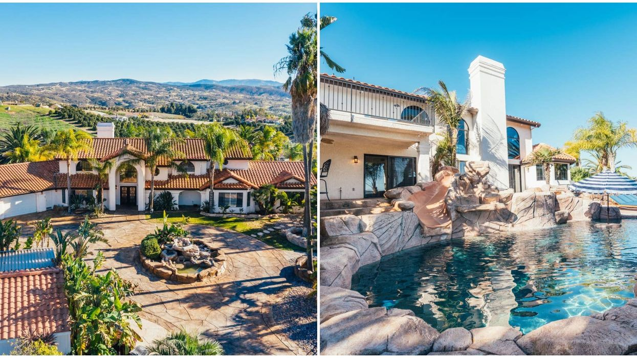 This California Airbnb Comes With A Pool, Waterslide, And Waterfall