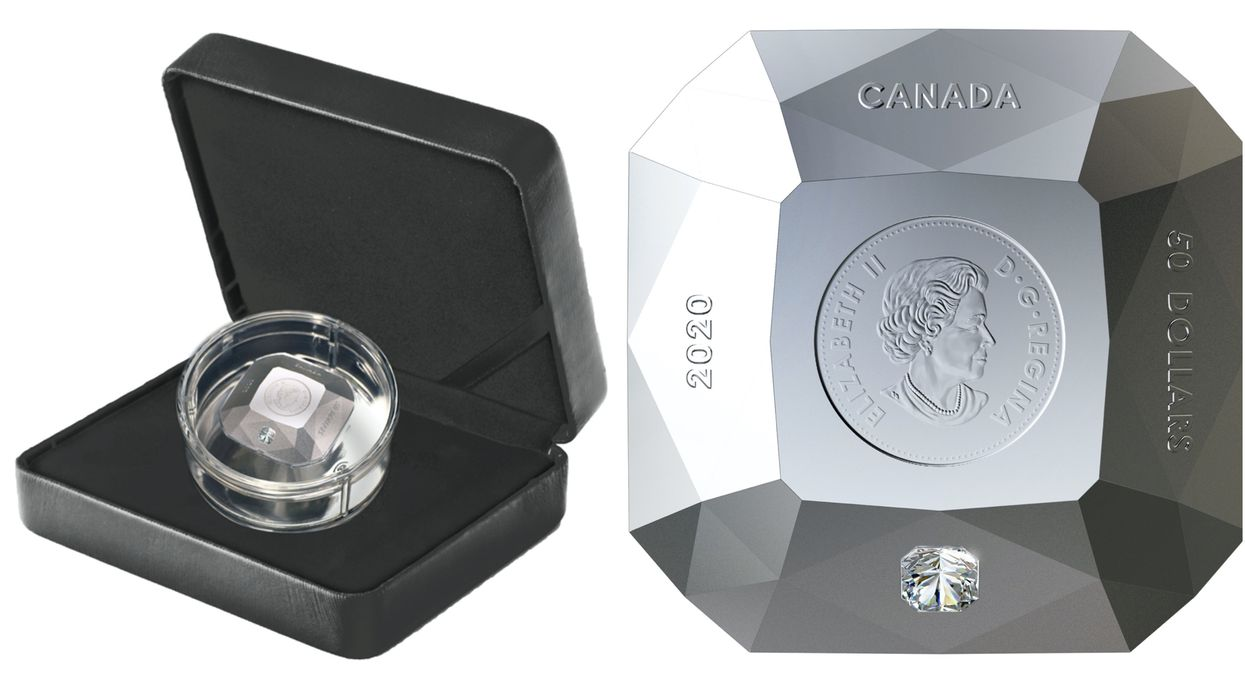 Canada Has A Brand New Coin & It's Shaped Like A Real Cut Diamond