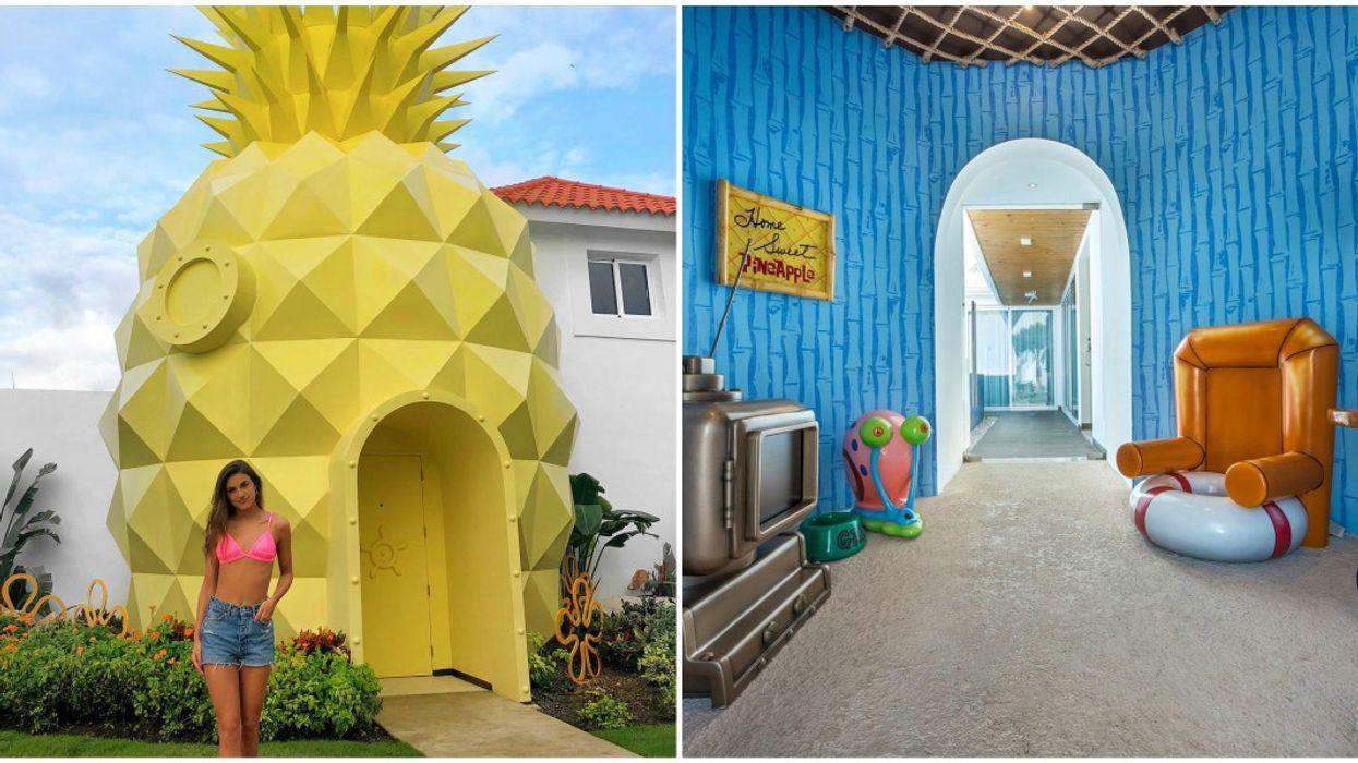 Stay In Spongebob's Pineapple At Nickelodeon Resort In Punta Cana Off South Florida Coast